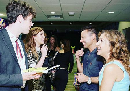 Echosmith's Sydney and Noah with Darren Campo and Jacquie Jordan